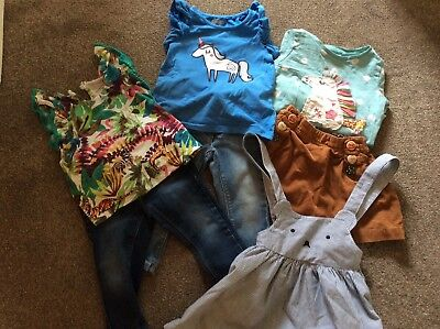 Bundle of girls Next clothes in 12-18 months, jeans, unicorn tops, skirt