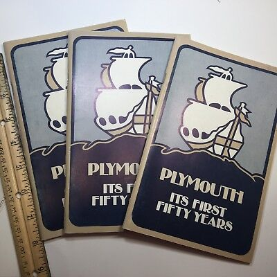 PLYMOUTH IT'S FIRST 50 YEARS, 2nd edition 1978, 3 books, MINT pictures of cars