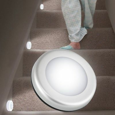 Wireless PIR Auto Motion Sensor Infrared Night Light Cabinet Stair Lamp 6LED New