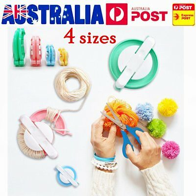 4 Sizes Pompom Maker Ball Weaver Needle Craft Knitting Loom Wool Tool HOT AA