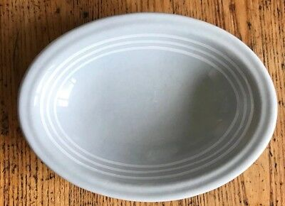 Buffalo China Lune Hotel Oval Soap Dish with Three White Bands