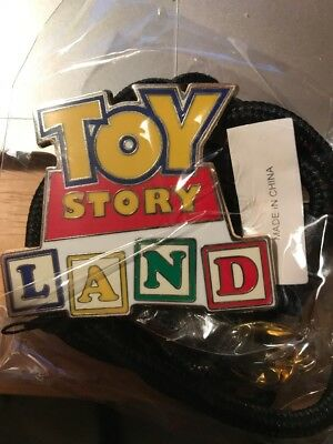 "Disney ""TOY STORY LAND"" Bolo Lanyard Disney Cast Member Exclusive - New Sealed"