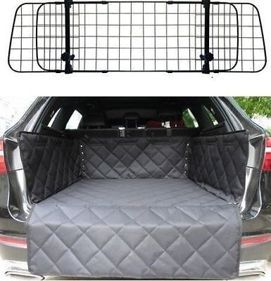 Mesh Headrest Pet Dog Guard + Quilted Boot Liner FOR BMW 5 SERIES GT