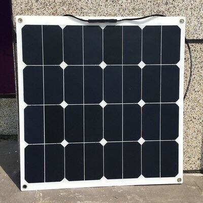 Sunpower 18V 50W Flexible Solar Panel for Marine Boat Car RV 12V Battery Charger