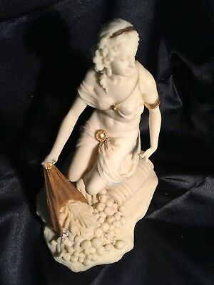 A Large Pacific Giftware Aphrodite Statue Hand Painted Gold Leaf Marble Look