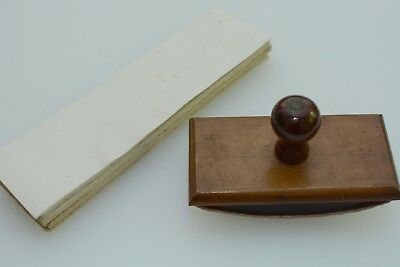 antique wooden ink blotter with blotting paper