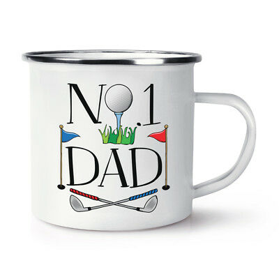 World/'s Best Dad Retro Enamel Mug Cup Fathers Day Funny Gift Present Camping