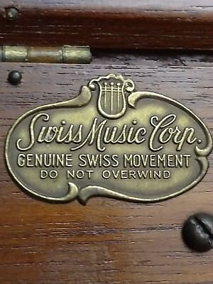 Genuine Swiss music Corp.~ wooden humidor box with pipe holders