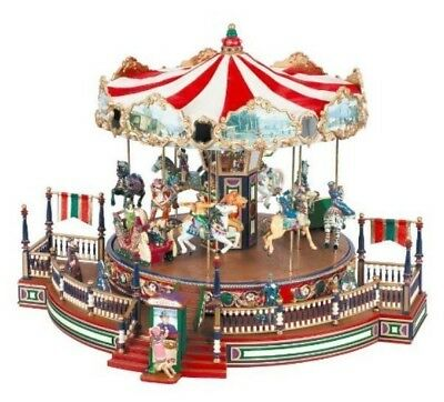 2003 Mr. Christmas Musical Around the World Carousel - Plays 30 Songs VGC