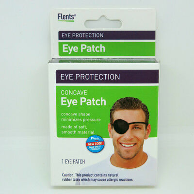 Flents Eye Protection Concave Comfort Eye Patch Black for Adults (1 Eye Patch)