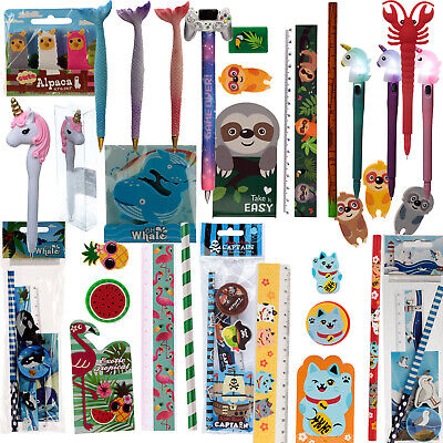 Kids Stationery Set Novelty Girls Christmas Stocking Fillers Party Pencils Home