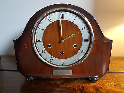 "Vintage 1930's Mantle Clock by ""The Alexander Clark Co Ltd"" (Antique)"
