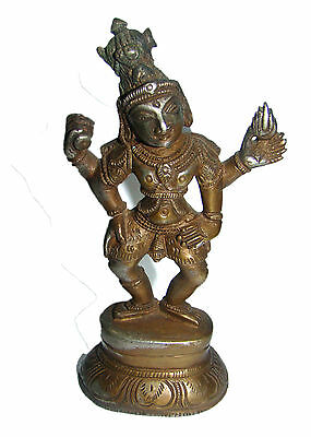 RARE attractive & Nicely engraved Brass Statue Lord Shiva Dancing Nataraja