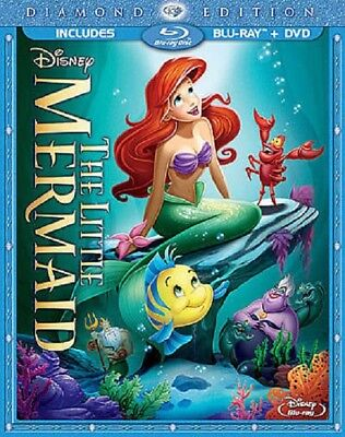 The Little Mermaid (Blu-ray/DVD, 2013, 2-Disc Set, Diamond Edition)***NO CODE