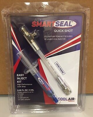 Ac Smart Seal Quick Shot & Easy Inject Hose W/cool Enhancer & Uv Dye 322Bp
