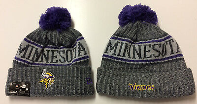 fc33218b3a7 ... bobble hat sideline knit grey blue. loading zoom c6d22 e0971 reduced  2018 minnesota vikings new era knit hat on field sideline beanie stocking  cap 11477 ...