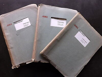 BEA: Hawker Siddeley Trident 1 Airliner 3 x Training manuals. 1960's/70's.