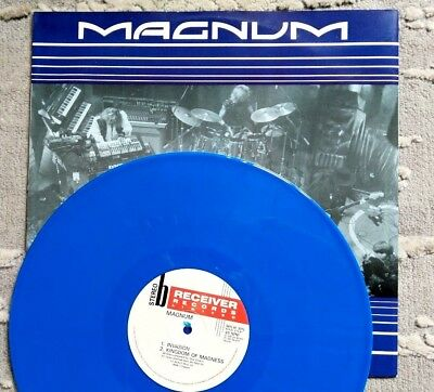 """Magnum - The Early Years - BLUE Vinyl 12"""" EP - 1990 Receiver Rec. Replay 3015"""