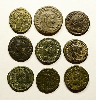Stunning Lot Of 9 Roman Imperial Coins - Nice Detail