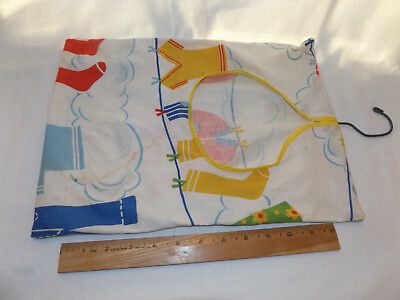 Vintage CLOTH CLOTHESPIN BAG Clothes Pin Hanger for Laundry Clothesline