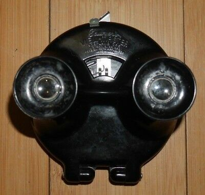 Sawyer's Viewmaster Viewer Rare Black Model B Round Clamshell 1944-47   A315