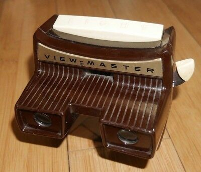 SAWYER'S VIEWMASTER LIGHTED STEREO VIEWER ORIGINAL 1950's MODEL F RARE  A811