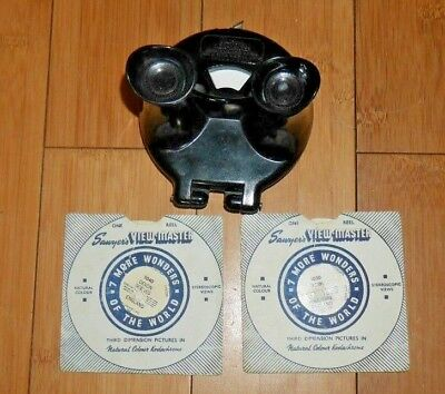 Rare Uk Version - Sawyer's Viewmaster Viewer Model B Clamshell 1944-47   A834