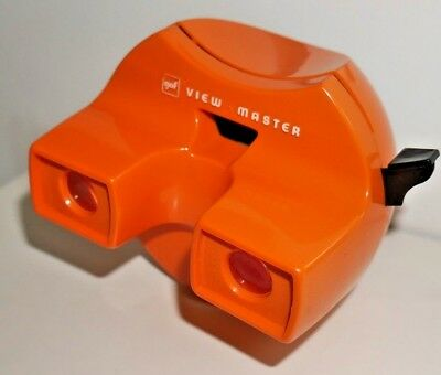 VINTAGE VIEWMASTER SPACE VIEWER ORANGE 1970's MODEL K RARE SMALL GAF RETRO  A953