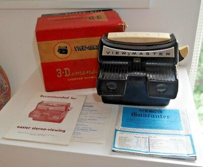 SAWYER'S VIEWMASTER LIGHTED VIEWER ORIGINAL 1950's MODEL F RARE & BOXED    B311