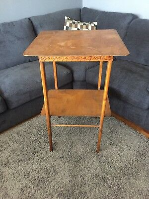 Vintage Wooden High Stand/ Table