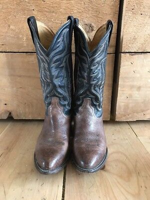 ad67dec726c TONY LAMA STYLE 6171C Men's Size 8D Brown Leather Cowboy Boots ...
