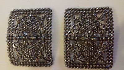 A Pair of ANtique French steel buckles