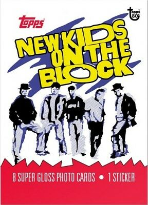 2018 Topps 80th Anniversary Wrapper Art Card #73 - 1989 New Kids on the Block