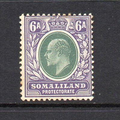 Somaliland Protectorate - 1905-11,  6a Green & Violet (sg51) Mint
