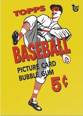 2018 Topps 80th Anniversary Wrapper Art Card #75 - 1956 Baseball