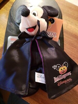 "NEW Disneyland Paris  Vampire Mickey Halloween Plush Masquerade 9"" NWT"
