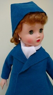 "Made for Madam Alexander 16"" Vintage Elise - Felt Coat & Hat & Dress Ensemble"