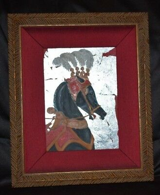 "Signed Original Oil Arabian Horse Painting Egyptian 5""x7"" by Jimmie Carey Framed"