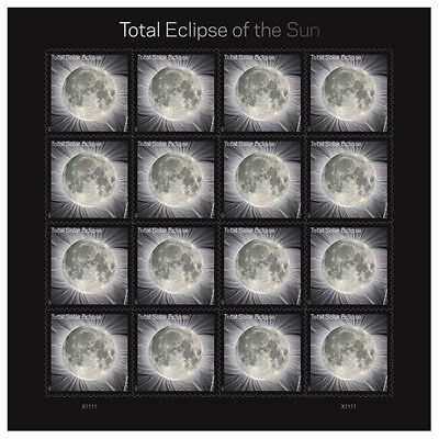 Total Eclipse of the Sun Forever Stamps Sheet of 16 with Protective Sleeve