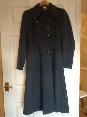 Rare Original vintage 1940's Elgora Wool fitted Ladies Green coat