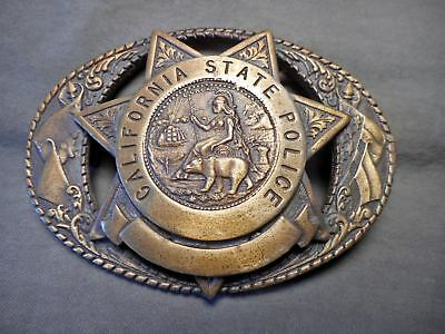 1990 California State Police Buckle Limeted Edition # 66