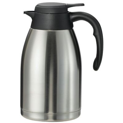 Service Ideas Steelvac? 2.0 L Flow Control Stainless Steel Carafe