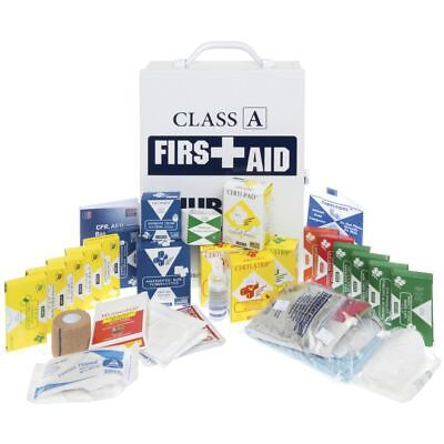 """HUBERT� Large Class A First Aid Kit with White Plastic Case - 10 1/4""""L x 4 5/8""""D"""