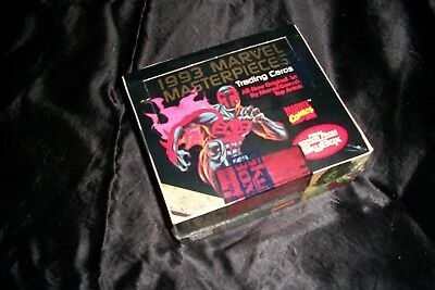 """1993 Marvel Masterpieces Trading Cards """"Case Break""""  Factory Sealed Wax Box #'d"""