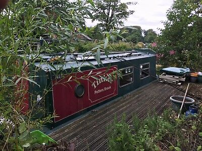 25 foot Narrowboat on the Lancaster Canal in  need of some refurbishment .
