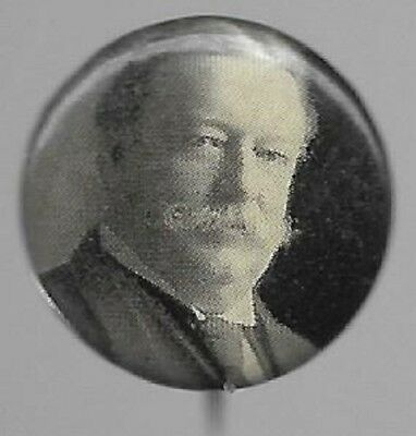 William Howard Taft Black And White, Vintage Political Campaign Pin
