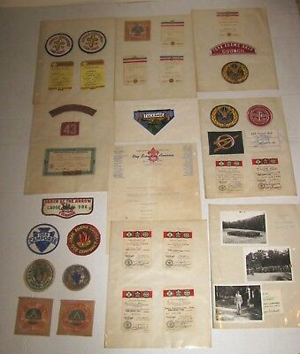 1940-50's BOY SCOUT BSA AND SCOUT MEMBERSHIP CARDS PATCHES SAME BOY YORK PA