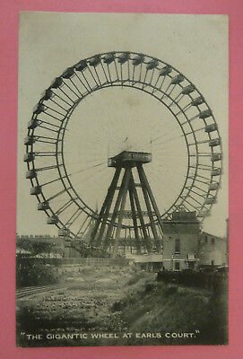 Vintage Postcard, The Gigantic Wheel at Earls Court- Posted 1907