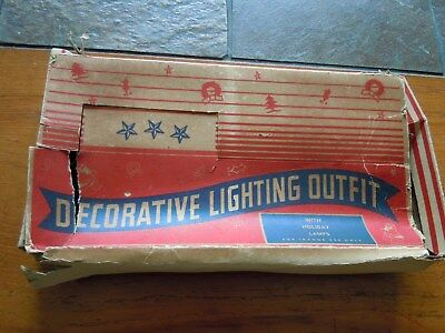Vintage Christmas Lights  1940's Vintage