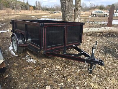 sweet little 2017 DUMP TRAILER 5x8x2 ft used 1 time amazing condition -7k axle